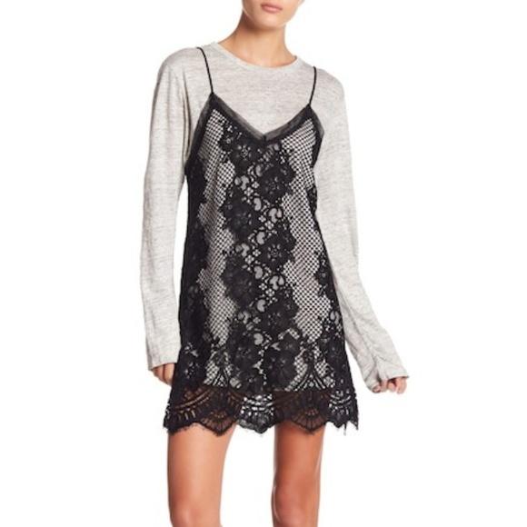 2497ba8993 Kendall   Kylie Lace Sweater Dress